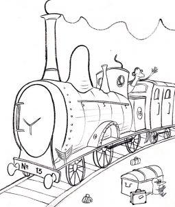 Kleurplaat 2 Trein 939